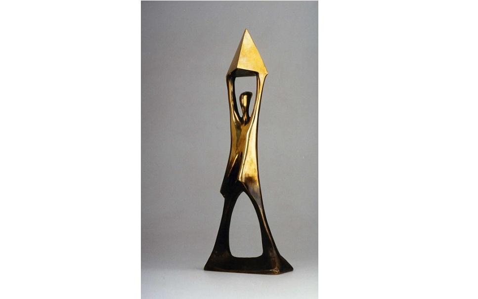 ŻYCIE W ARCHITEKTURZE. Nagroda główna, statuetka autorstwa profesora Adama Myjaka